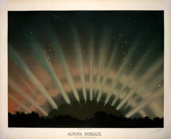 Aurora Borealis, observed March 1, 1872,  9:25 P.M.