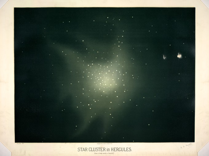 Star clusters in Hercules, from a study made in June of 1877