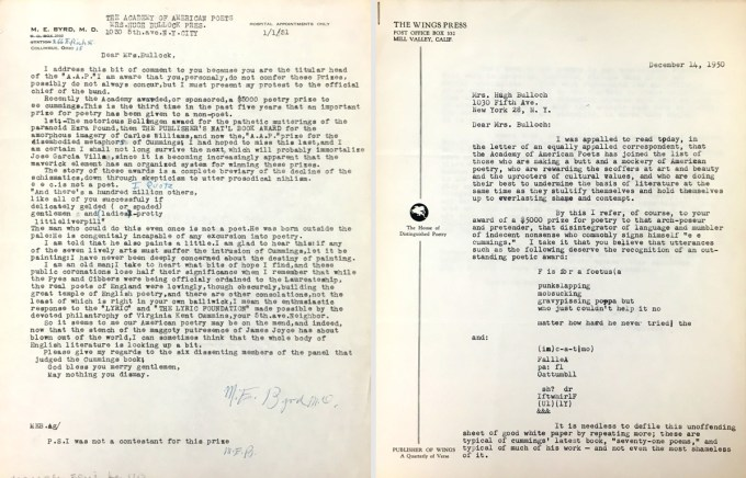 Byrd's letter (left) and the first page of Coblentz's letter (right)