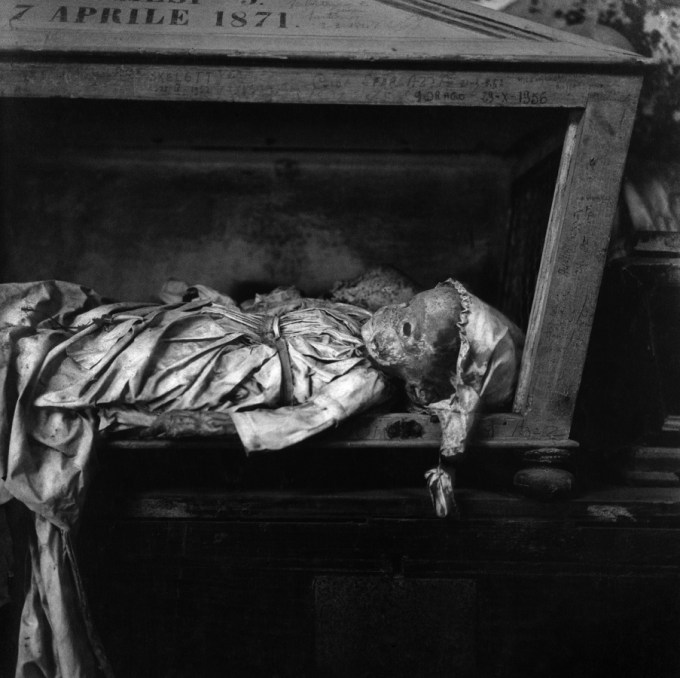 Photograph from the Catacombs in Palermo by Peter Hujar