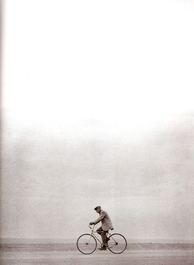 Henry Miller on his bicycle
