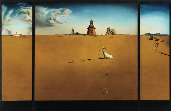 Salvador Dalí, Landscape with Girl Skipping Rope, 1936
