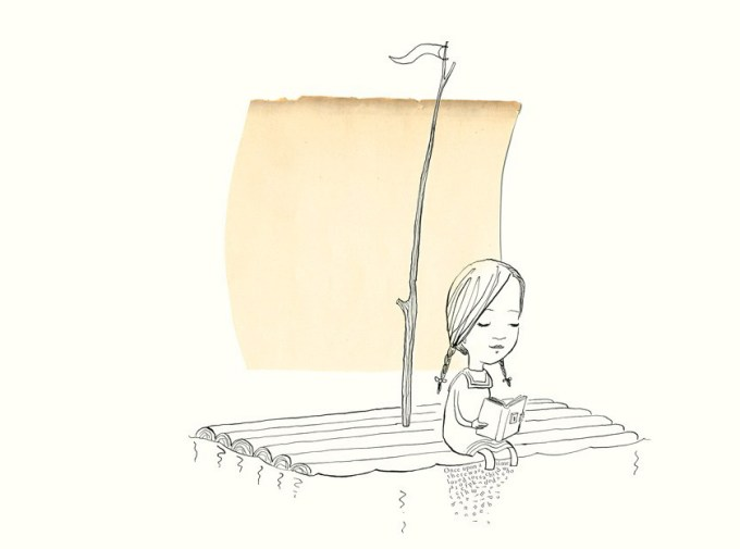Art by Oliver Jeffers and Sam Winston from A Child of Books, an illustrated love letter to reading