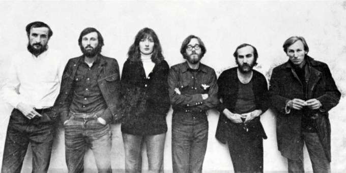 Abramović with her art collective, Group 70, at Belgrade's Student Cultural Center at age 24