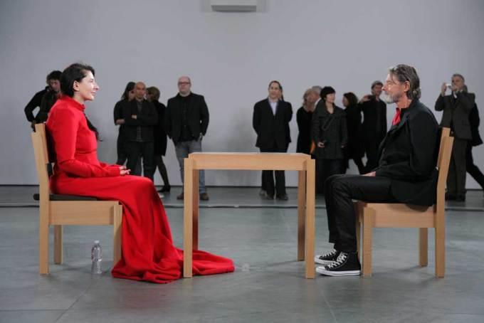 Abramović, The Artist Is Present, 2010. Sitting across from her, Ulay. (Photograph: Scott Rudd)