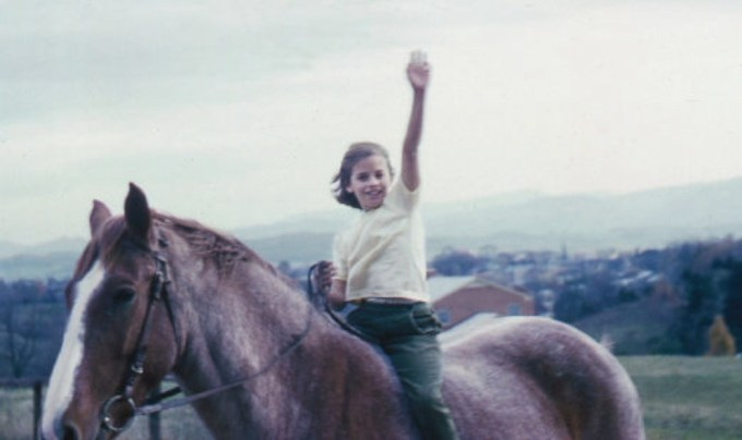 Sally Mann on her beloved horse as a girl