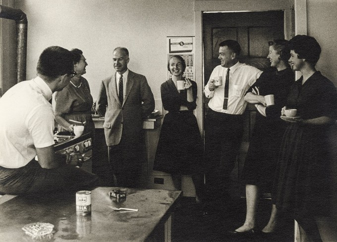IPAR researchers in the staff kitchen, c. 1961