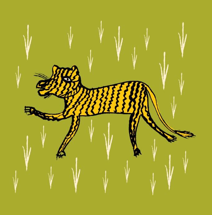 Tiger Patachitra Tradition Pithora