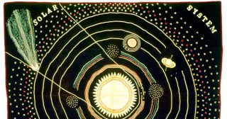 Cosmic Threads: A Solar System Quilt from 1876