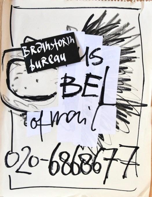 uitdaging, brainstorm methode, brainstorm techniek, resultaat, idee, bellen, contact, guerrilla art, guerrilla marketing, guerrilla pr, brainstorm gang, brainstorm gangster
