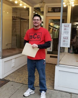 John at new 117 N. Market Street store