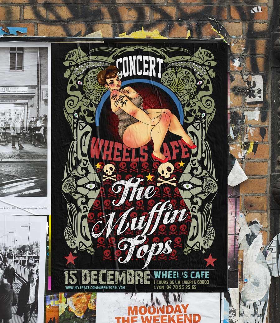 Affiches de concert rock