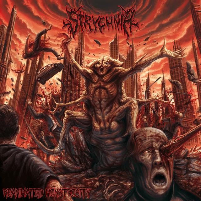 Horns Up Rocks Strychnia Reanimated Monstrosity Album Cover