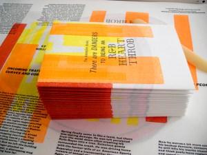 Letterpress Hertthrob Pamphlet