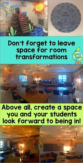 classroom organization for middle grades, back to school classroom set up for middle school #brainyapples #classroomorganization #socialstudies #history #middleschool #highschool #classroomtransformation #roomtransformation