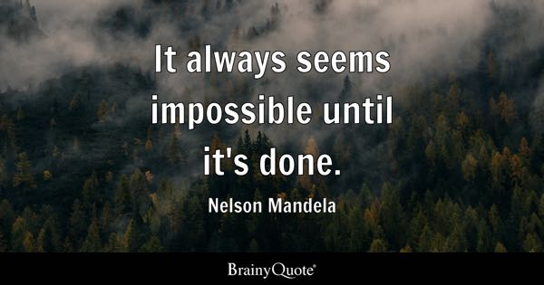 If You Think It Will Make You Thing Impossible Impossible