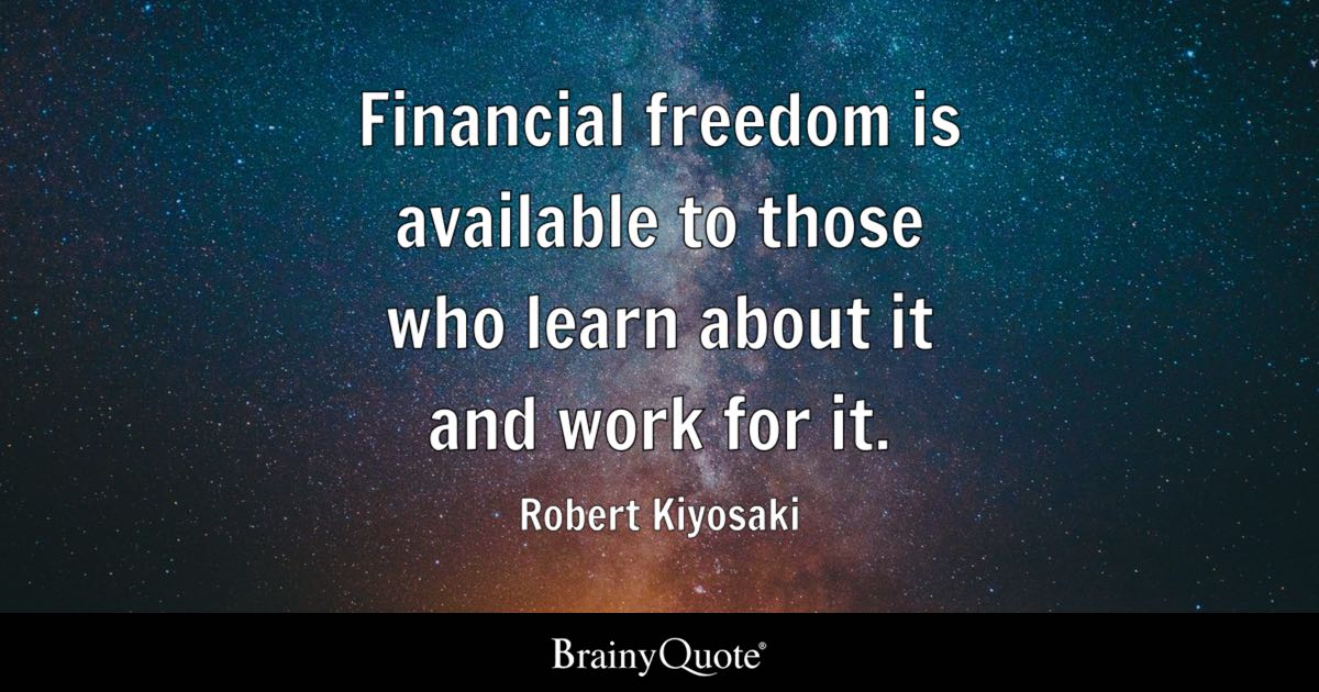 Financial Freedom Is Available To Those Who Learn About It