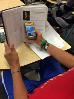 Digital learning blended behind a book