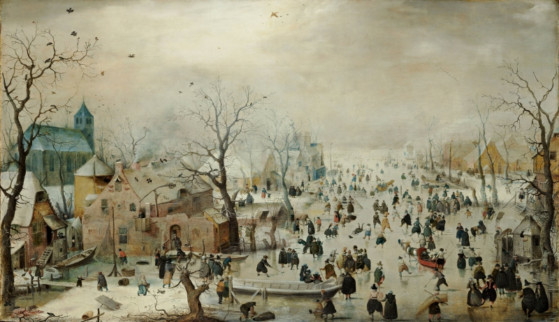 Winter Landscape with Ice Skaters, Hendrick Avercamp, c. 1608 (full)