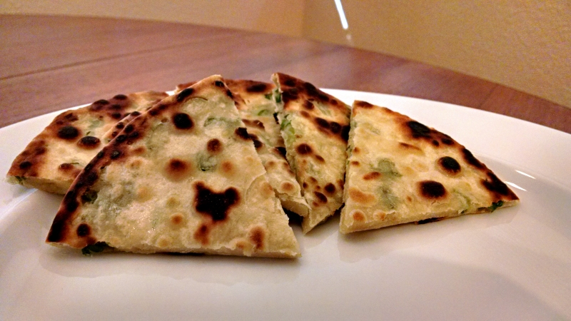 [image: slightly burnt scallion pancake]