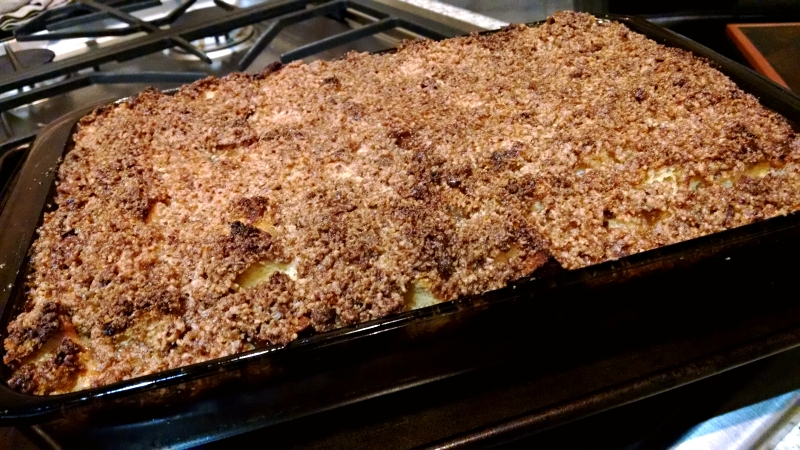 [image: cinnamon bread pudding—you can see some of the overbrowned bits]
