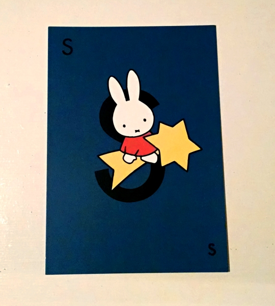 [image: a postcard featuring Dick Bruna's character Miffy]