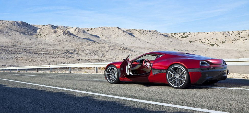 Rimac Concept One - worlds faster electric supercar, created and manufactured in Croatia