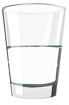 glass half-full half-empty