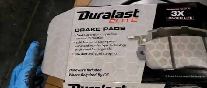 Duralast elite brake pads review