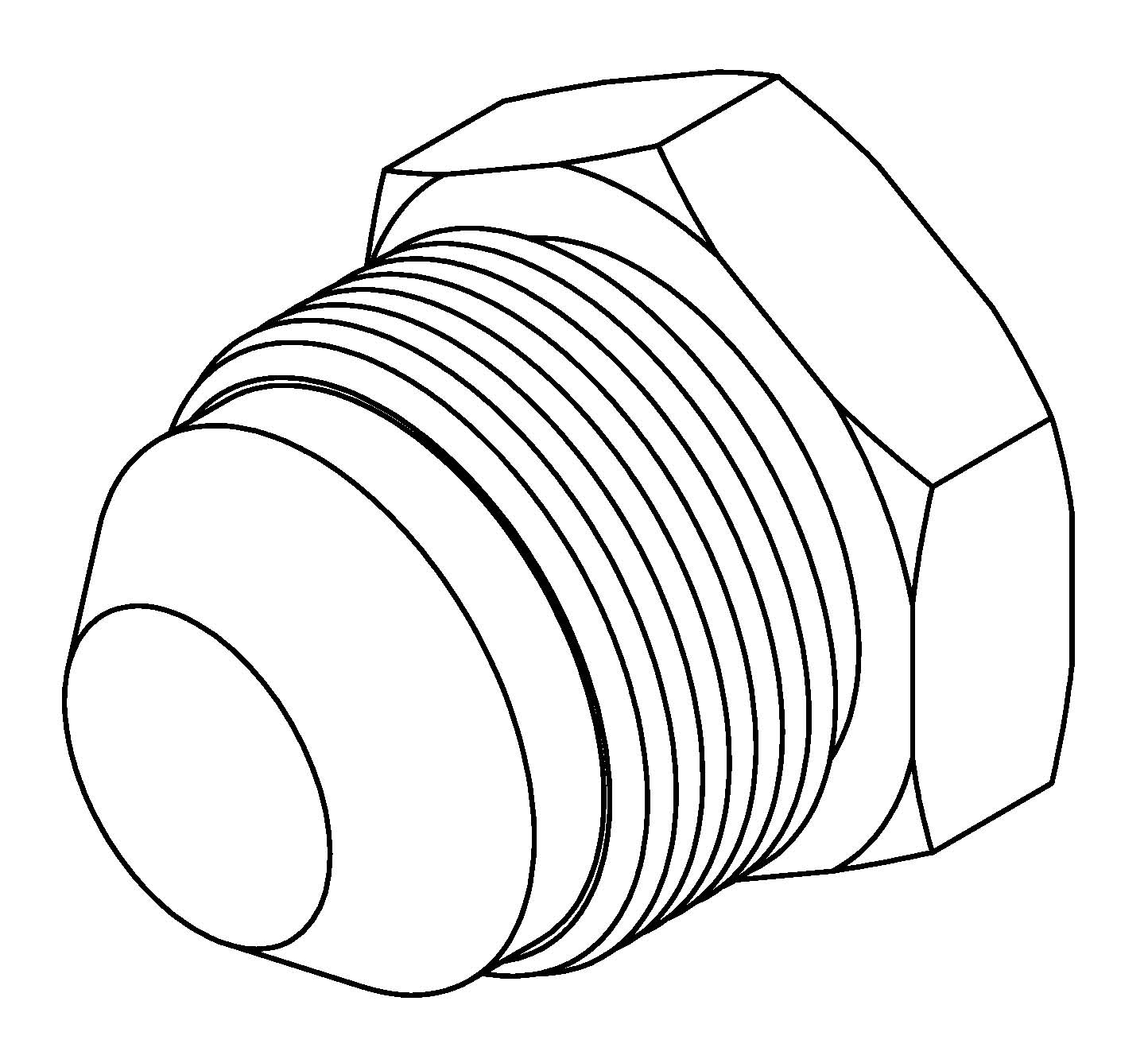 Brakequip Bq172 Weld On Fitting 3 4 X 16nf 1 2 Tube Alum