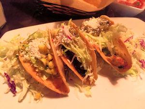Three Tacos At La Vida Cantina Costa Mesa