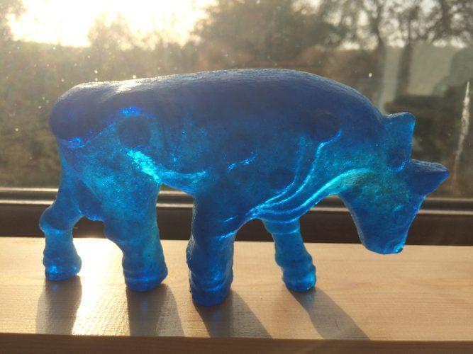 Aqua Blue Burghead Bull