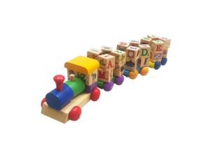 Spinning ABC Block Train