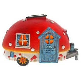 Red Travelling Fairy Caravan