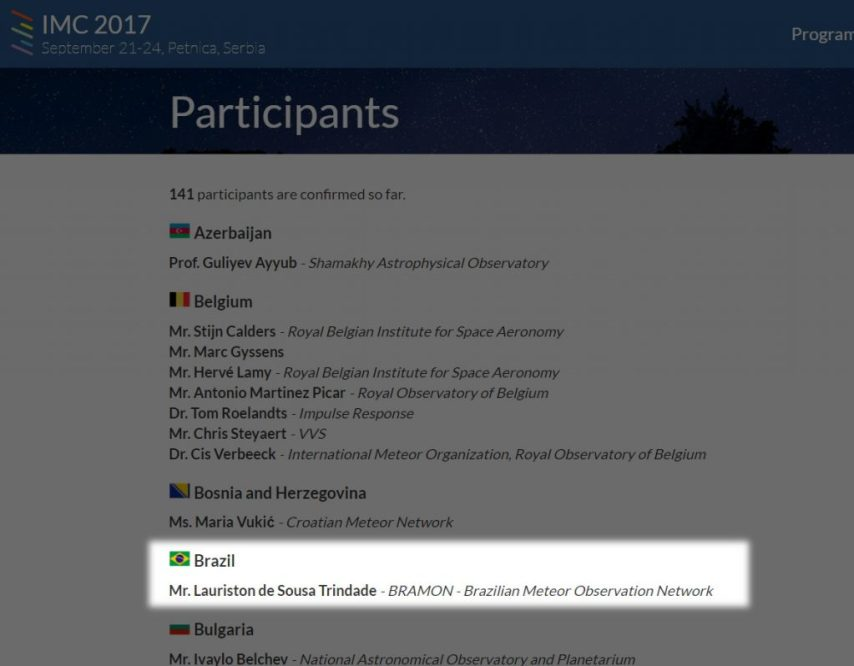 Lauriston confirmado no IMC 2017