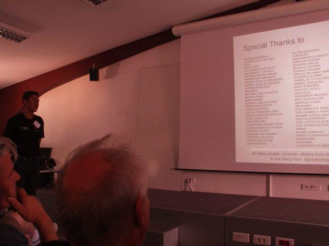 Lauriston apresenta os nomes dos que contribuíram com a campanha durante o IMC 2017