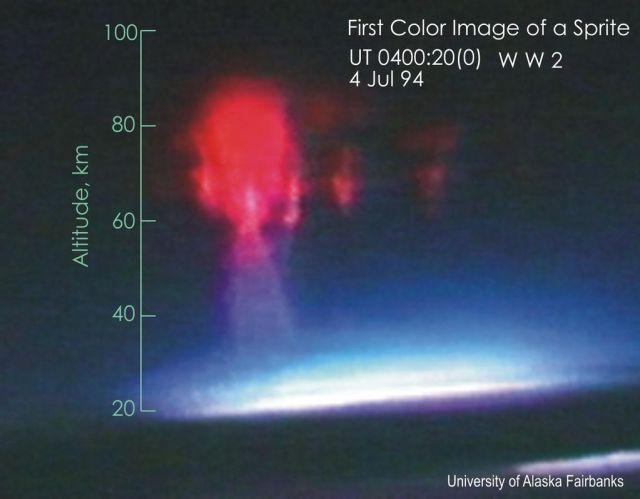 Primeira imagem colorida de um Sprite - Créditos: Universidade de Alaska Fairbanks