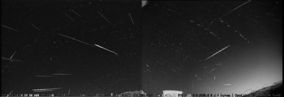 Meteoros registrados em São José dos Quatro Marcos, MT - Créditos: Isaac Leite / BRAMON