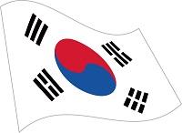 韓国の国旗のイラスト