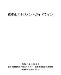 標準化マネジメントガイドラインの表紙