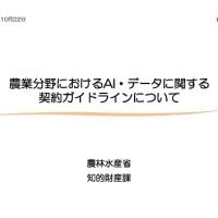 「農業分野におけるAI・データに関する契約ガイドライン」についての表紙