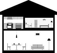 家の内装に関するイラスト