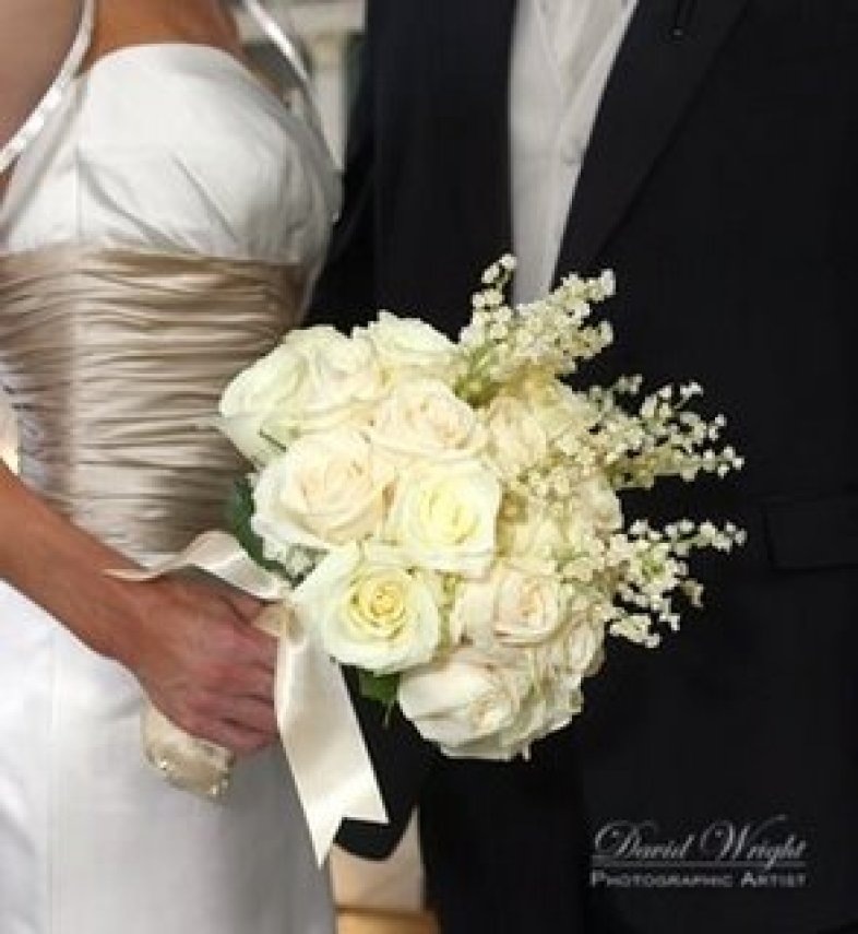 Bridal bouquet with Lilly of the Valley