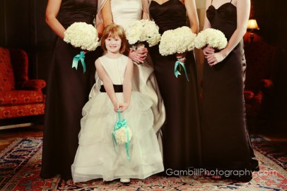 Tiffany blue and black accents wedding