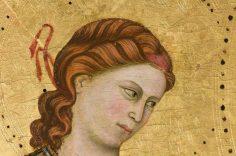 Giotto, Madonna di San Giorgio alla Costa, particolare. Tempera e oro su tavola, anno 1295 circa