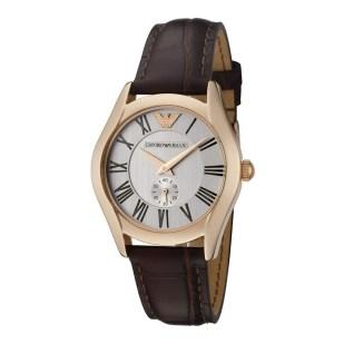 Emporio Armani Women's Brown Emporio Armani Leather Strap Watch designer accessories