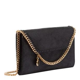 Black Stella McCartney Shoulder Bag with gold chain