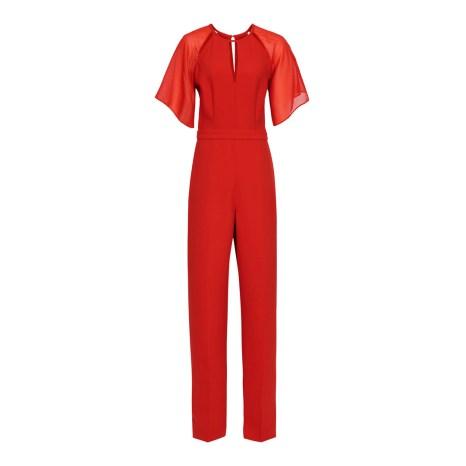 Reiss Red Scarlet Wide Leg Jumpsuit