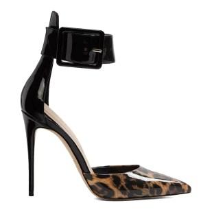 ALDO Black Leopard Synthetic Onaedia Heeled Shoes party heels