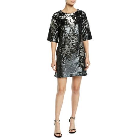 J Brand Black Lilly Sequin Dress